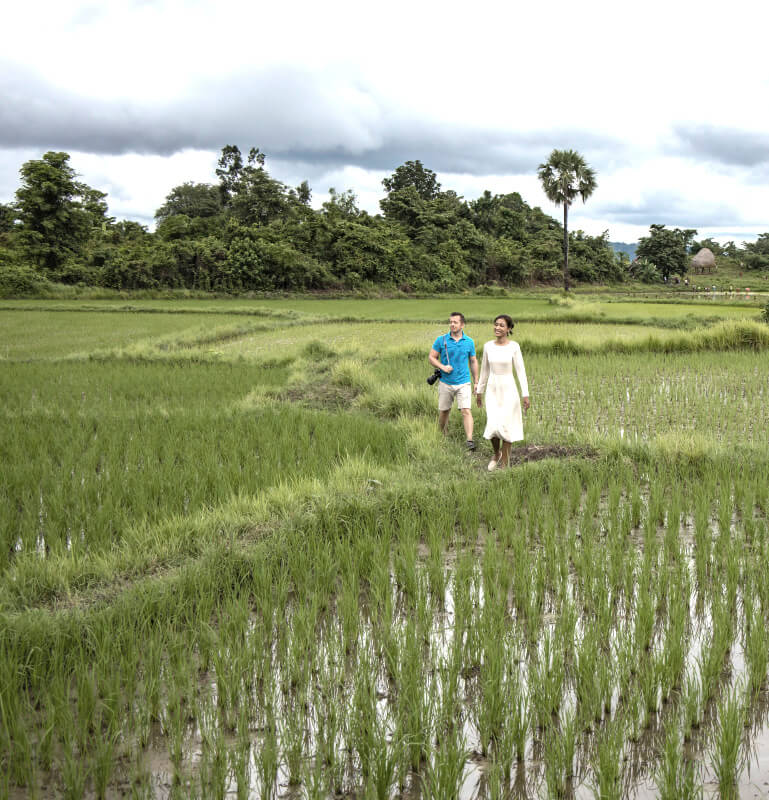 Explore Myanmar's fields of rice and pristine countryside along the Chindwin River