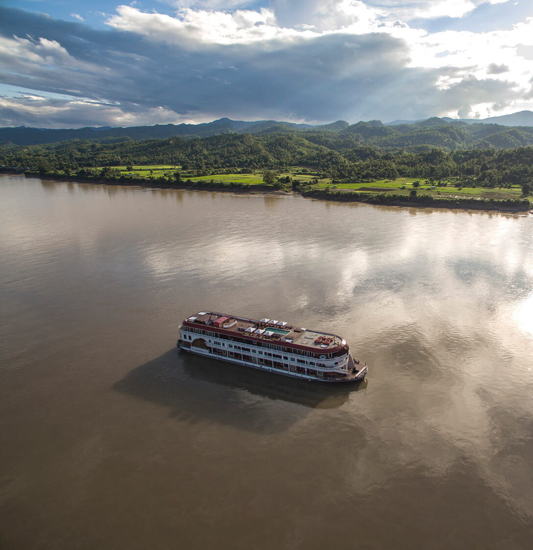 Heritage Line Anawrahta sails the remote Chindwin River