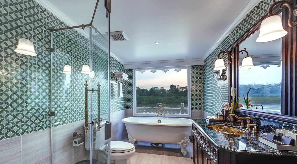 Amazing amenities in Anawrahta's Junior Suite bathroom
