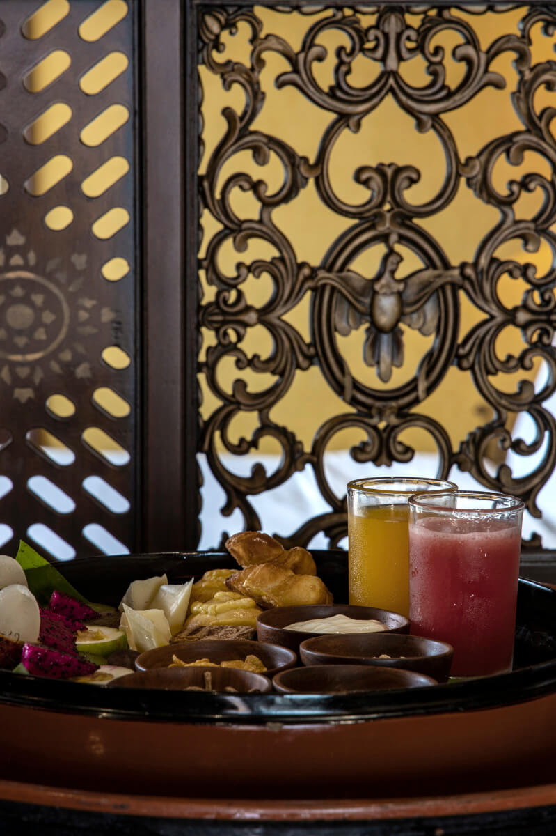 Enjoy some treats and refreshments from the comfort of your suite aboard Anawrahta