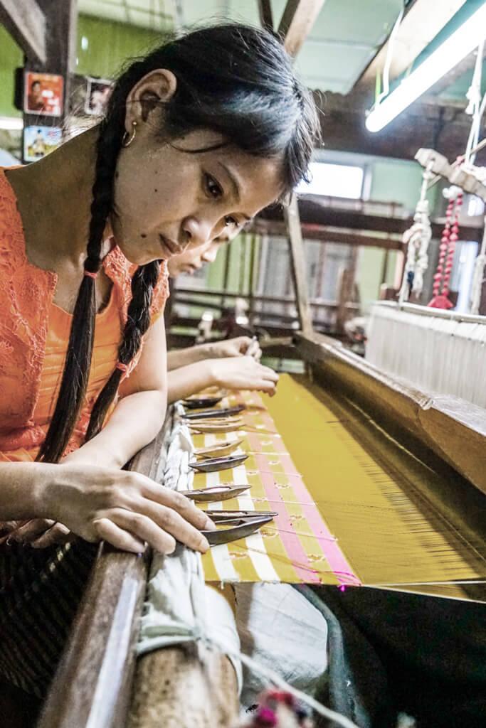 Visit a weaving workshop in Mandalay