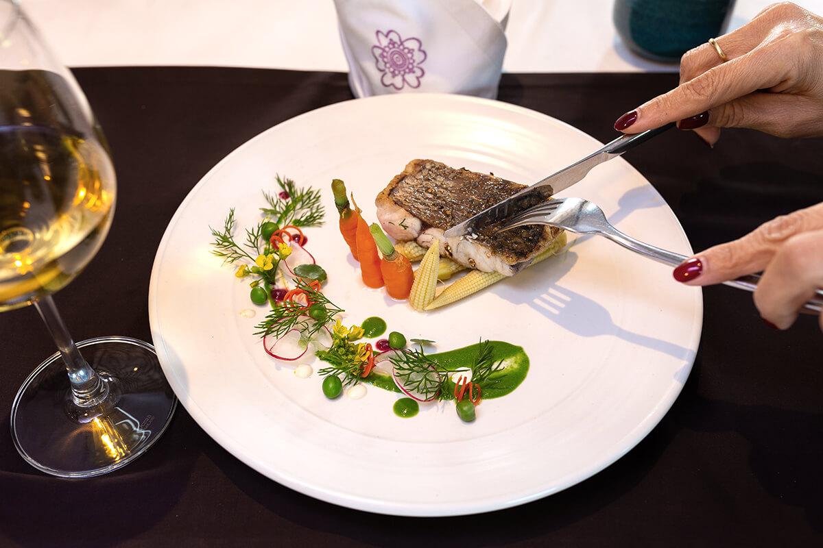 Delicious seafood aboard Heritage Line Violet