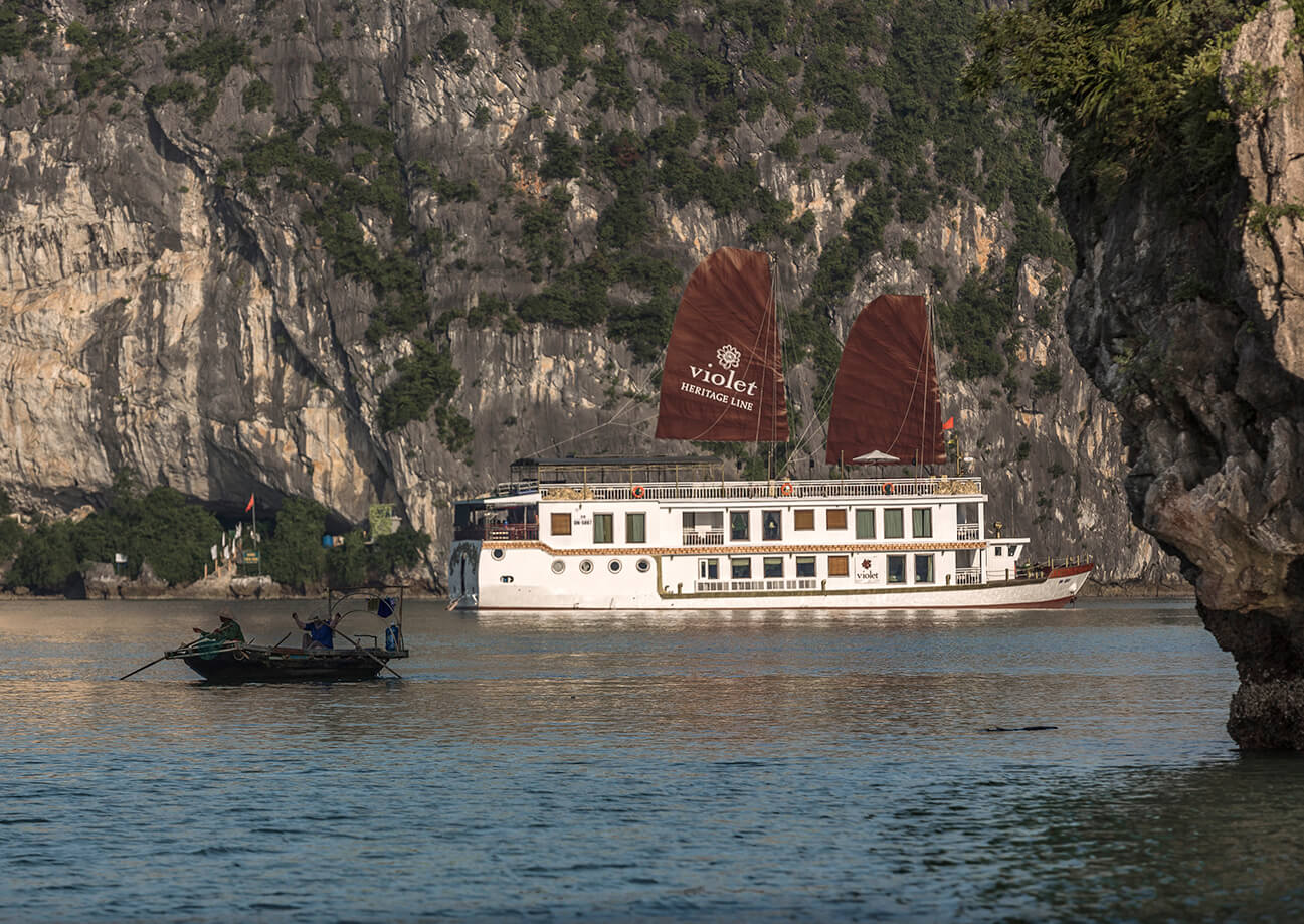 Heritage Line's exclusive 6-suite ship in Halong Bay, Violet