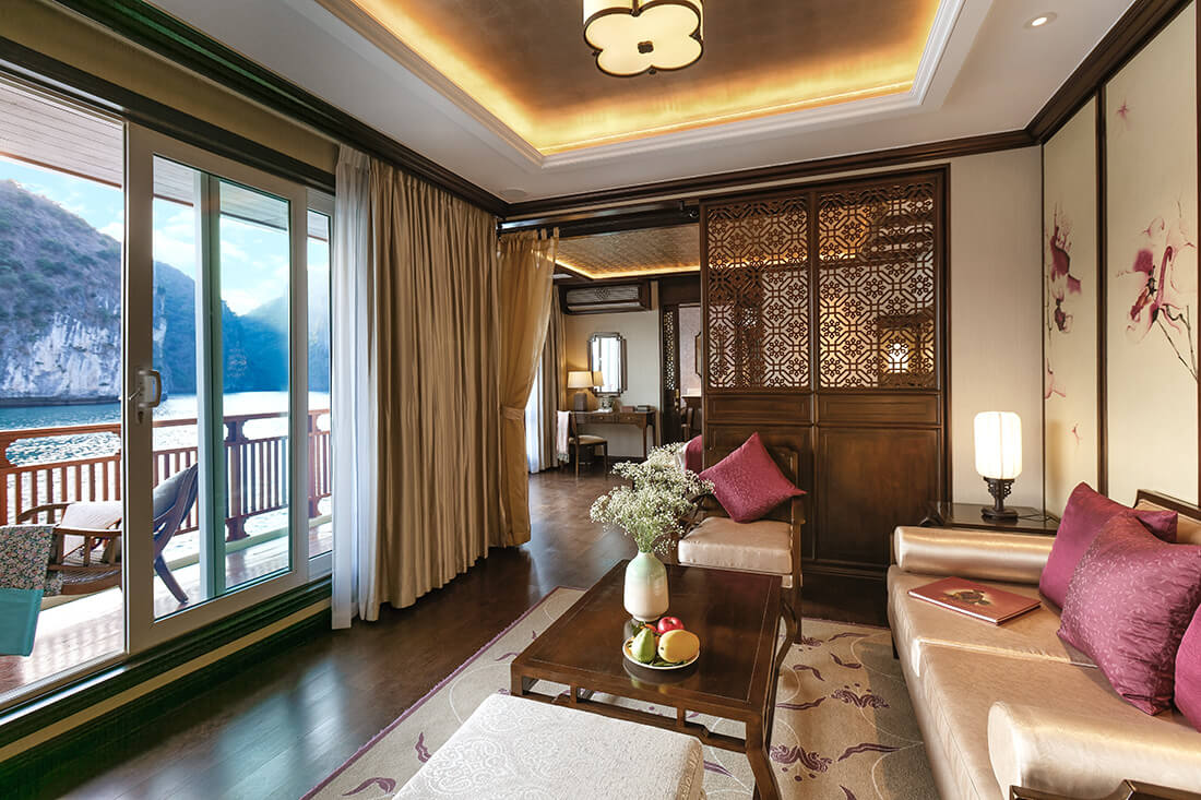 Heritage Line Ylang features just 10 luxurious suites, all with private balcony