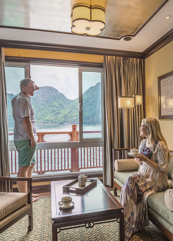All Heritage Line Ylang suites feature a separate lounge area