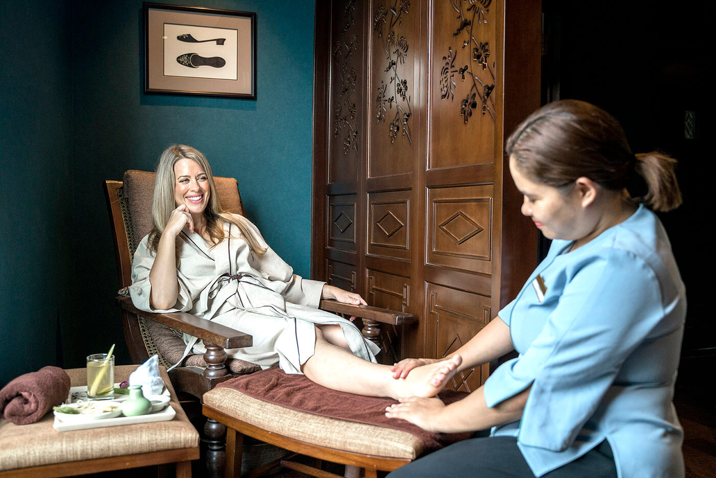 Reflexology sessions - one of many wellness offerings aboard Heritage Line Ylang