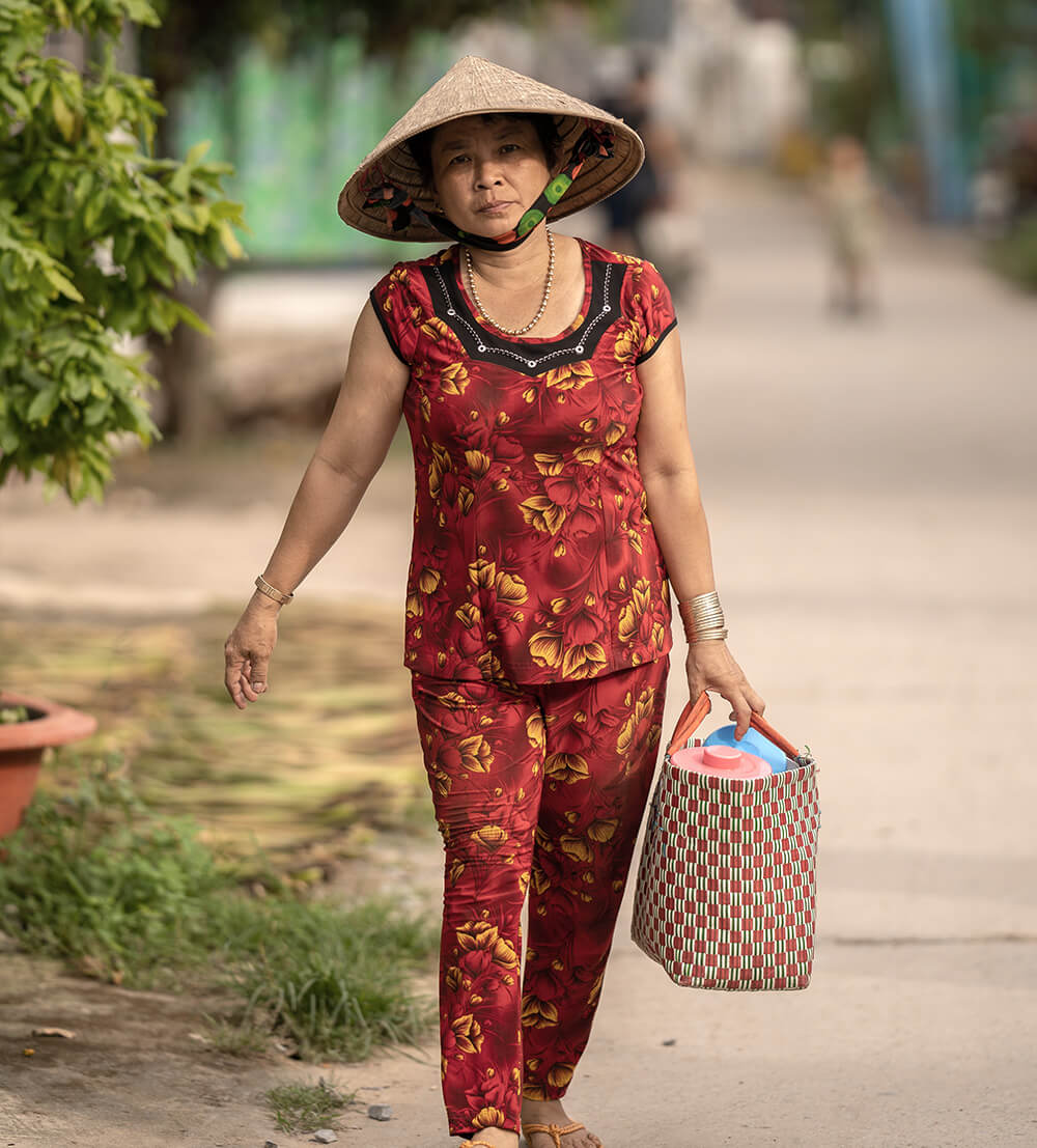 A local woman on Binh Thanh, an island in Vietnam's lower Mekong River