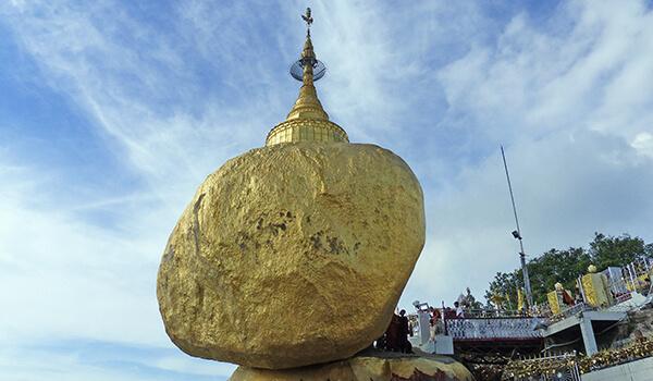 The Golden Rock at Kyaiktiyo Pagoda (Mon State, Myanmar)
