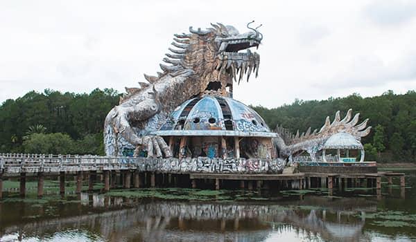 Thuy Tien abandoned waterpark in Hue, Vietnam