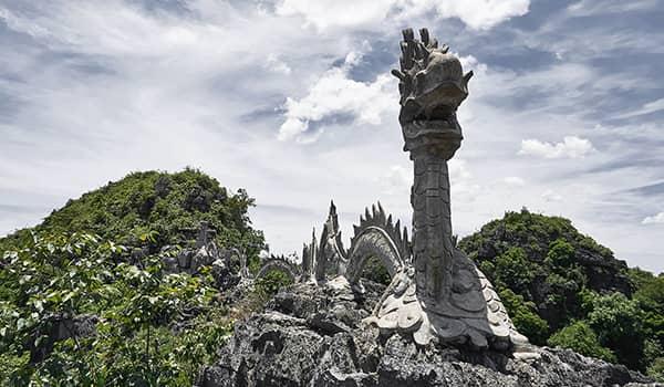 Dragon statue from the top of Hang Mua cave in Ninh Binh, Vietnam