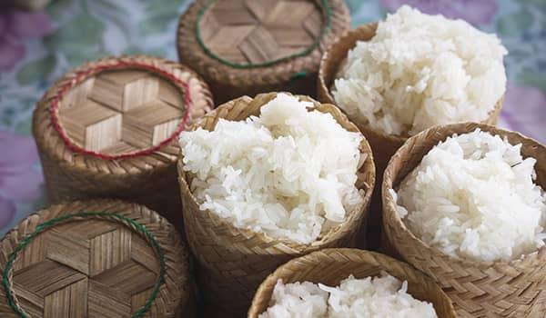 Lao sticky rice (khao niew)