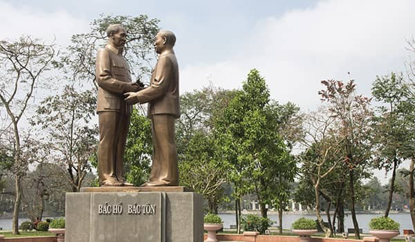 Statue of Ho Chi Minh, born Nguyen Sin Cung