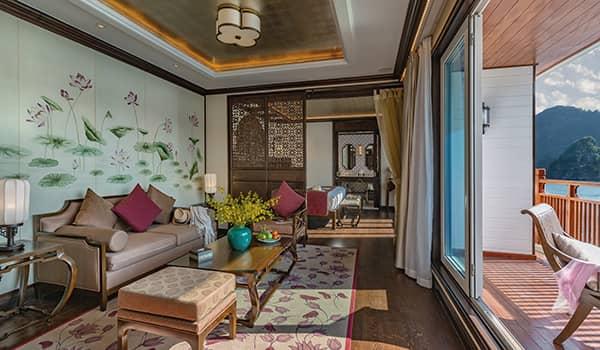 Seating lounge in Heritage Line Ylang's Regency Suite (Pure Lotus)